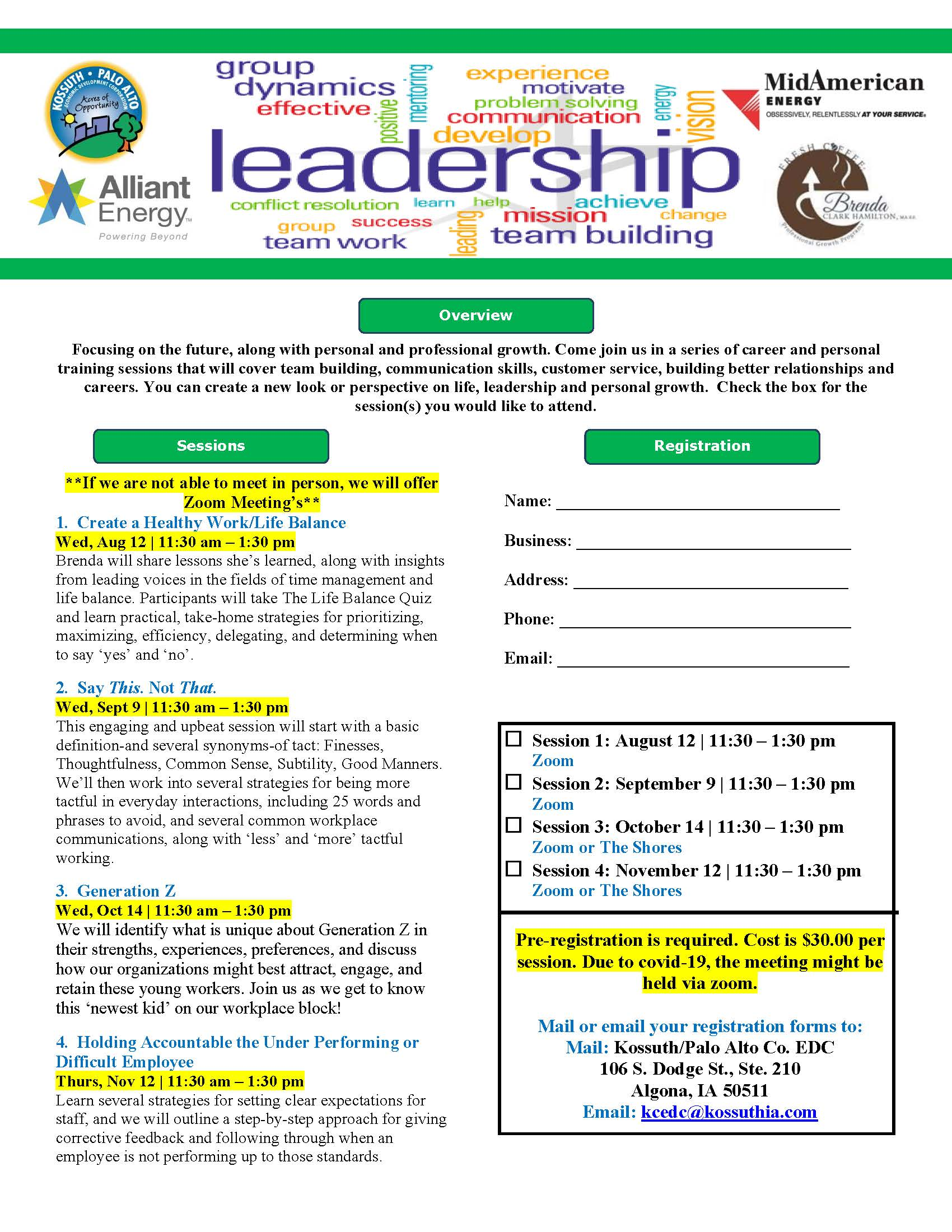 Leadership Flier Registration